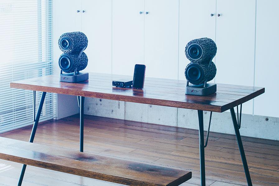 木机とスピーカー